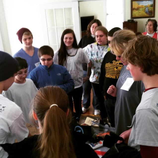 January 2015 Teen Mastermind group solving challenges